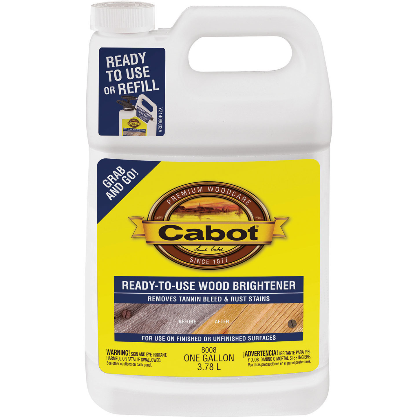 Cabot 1 Gal. Ready-To-Use Wood Brightener Image 1