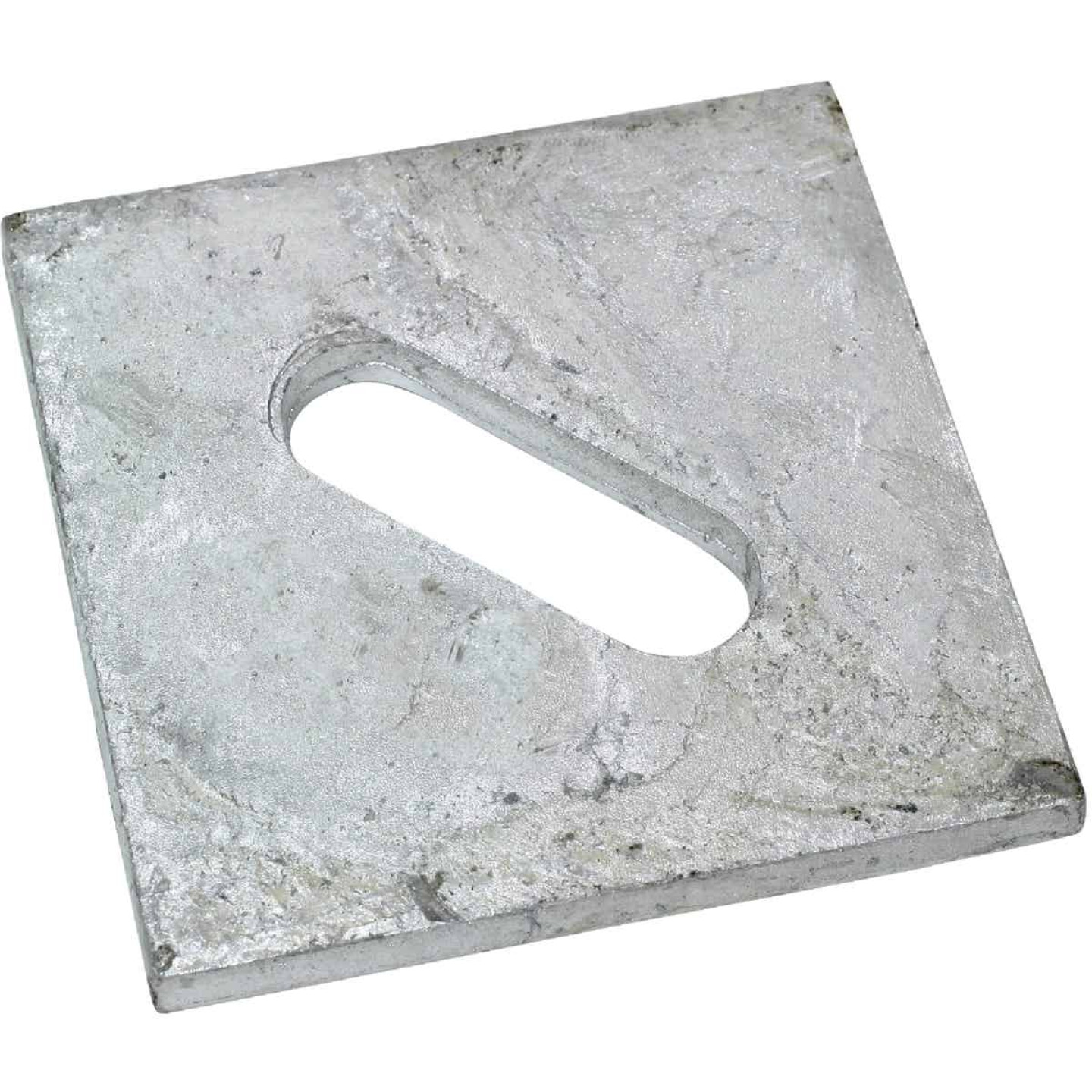 Simpson Strong-Tie 1/2 in. x 3 in. Steel Hot Dipped Galvanized Slotted Bearing Plate Image 1