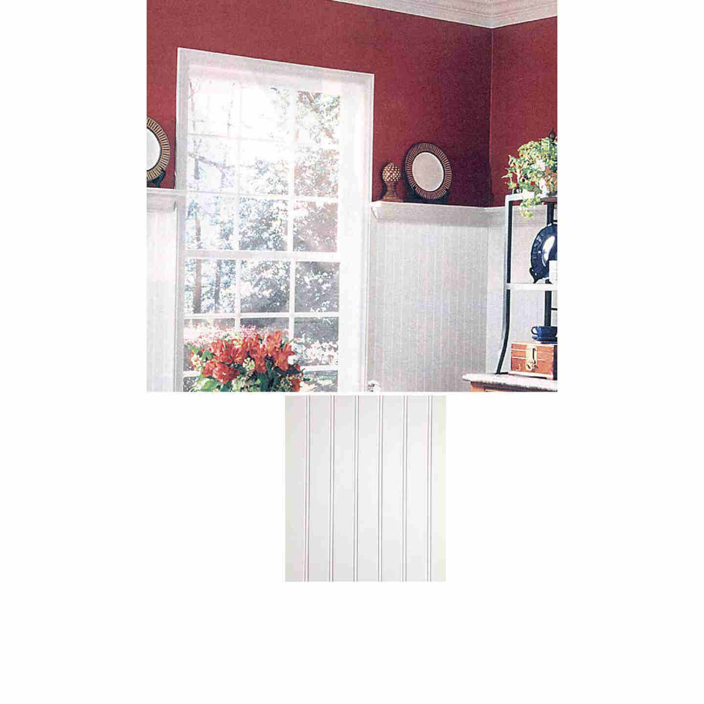 DPI 4 Ft. x 8 Ft. x 3/16 In. Paintable White Beaded Wall Paneling Image 1