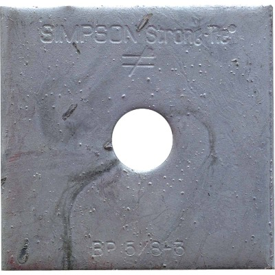 Simpson Strong-Tie 5/8 in. x 3 in. Steel Uncoated Bearing Plate