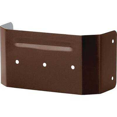Spectra Metals 3 In. x 4 In. Brown Aluminum Downspout Clip