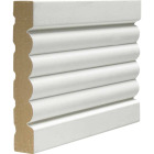 Cedar Creek 338 5/8 In. W. x 3-3/8 In. H. x 8 Ft. L. White MDF Fluted Casing Molding Image 1