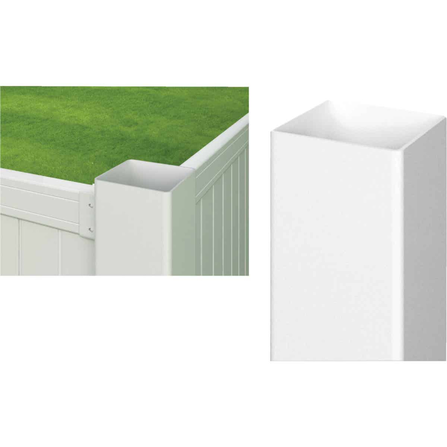 Outdoor Essentials 4 In. x 4 In. x 72 In. White Blank Vinyl Post Image 1