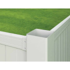 Outdoor Essentials 4 In. x 4 In. x 72 In. White Blank Vinyl Post Image 2