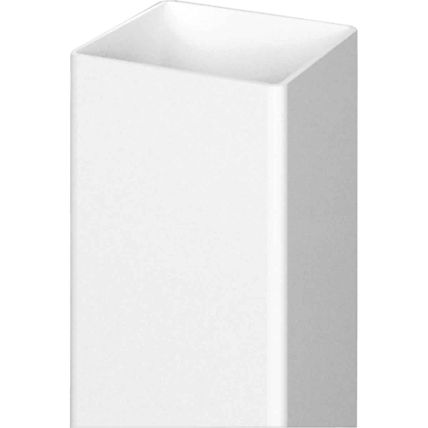 Outdoor Essentials 4 In. x 4 In. x 72 In. White Blank Vinyl Post Image 3