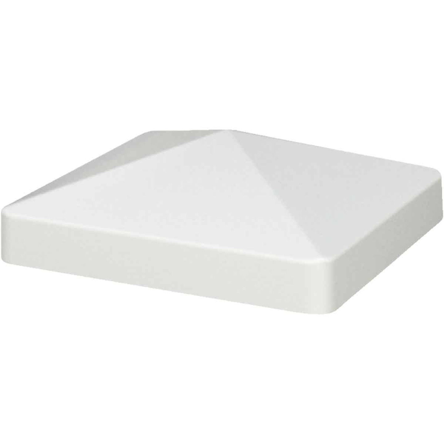 Outdoor Essentials 4 In. x 4 In. White Pyramid Vinyl Post Cap Image 3