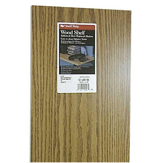 Knape & Vogt 12 In. x 48 In. Oak All-Purpose Shelf