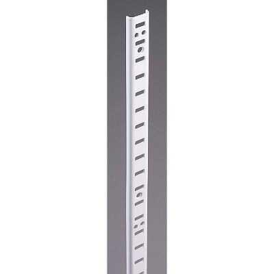 Knape & Vogt 255 Series 36 In. Zinc-Plated Steel Mortise-Mount Pilaster Shelf Standard