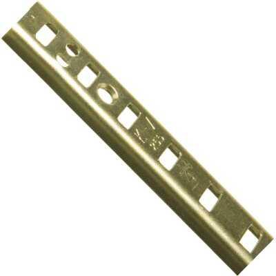 Knape & Vogt 255 Series 48 In. Brass Mortise-Mount Pilaster Shelf Standard