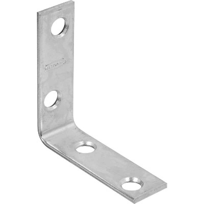 National Catalog 115 2 In. x 5/8 In. Zinc Corner Brace