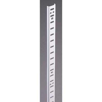 Knape & Vogt 255 Series 72 In. Zinc-Plated Steel Mortise-Mount Pilaster Shelf Standard