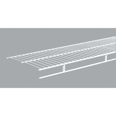 ClosetMaid 6 Ft. W. x 12 In. D. Ventilated Wire Shelf & Rod, White