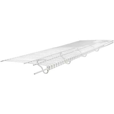 ClosetMaid TotalSlide 12 Ft. W. x 16 In. D. Contractor Pack Ventilated Wire Shelf & Rod, White (6-Pack)