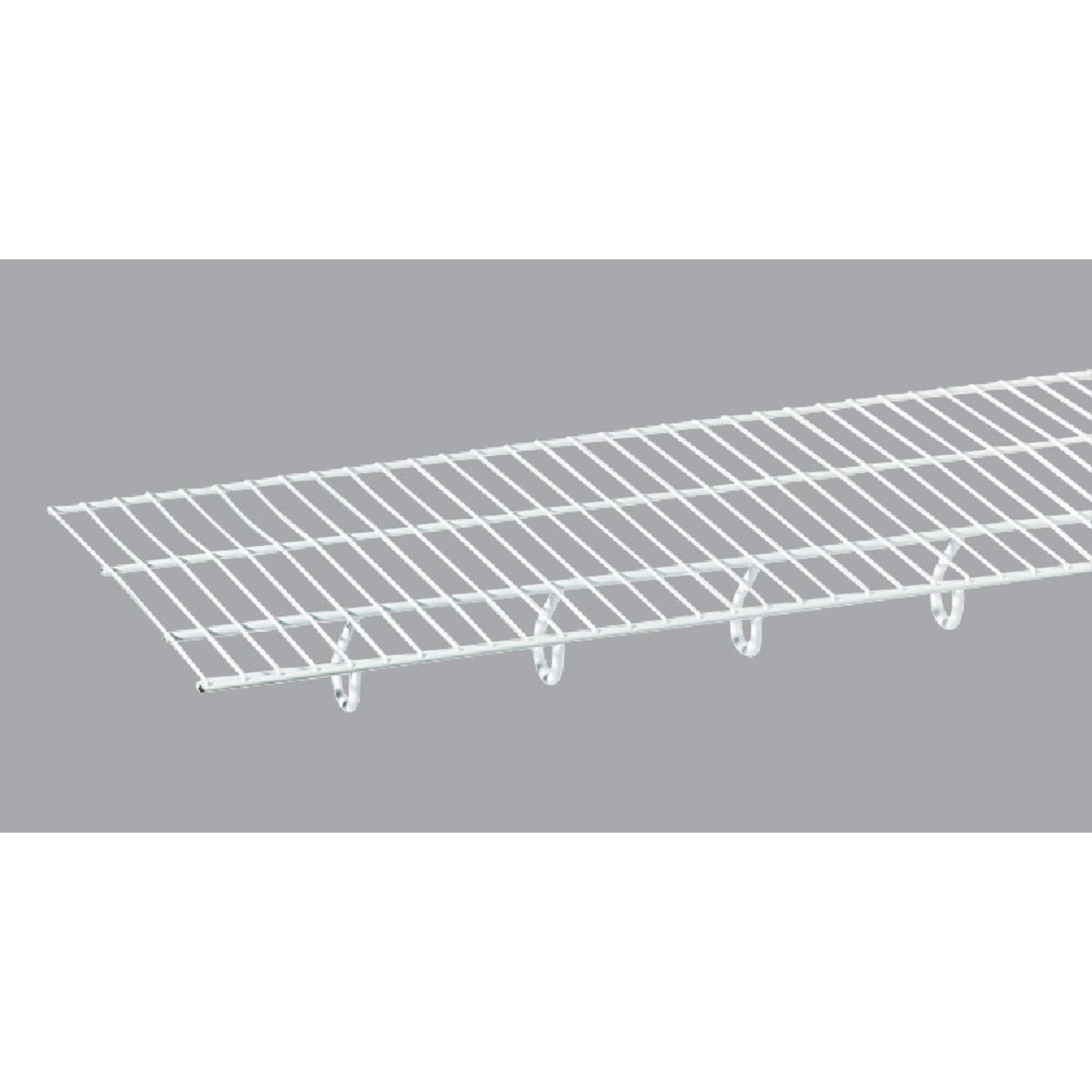 ClosetMaid TotalSlide 12 Ft. W. x 12 In. D. Contractor Pack Ventilated Wire Shelf & Rod, White (6-Pack) Image 4