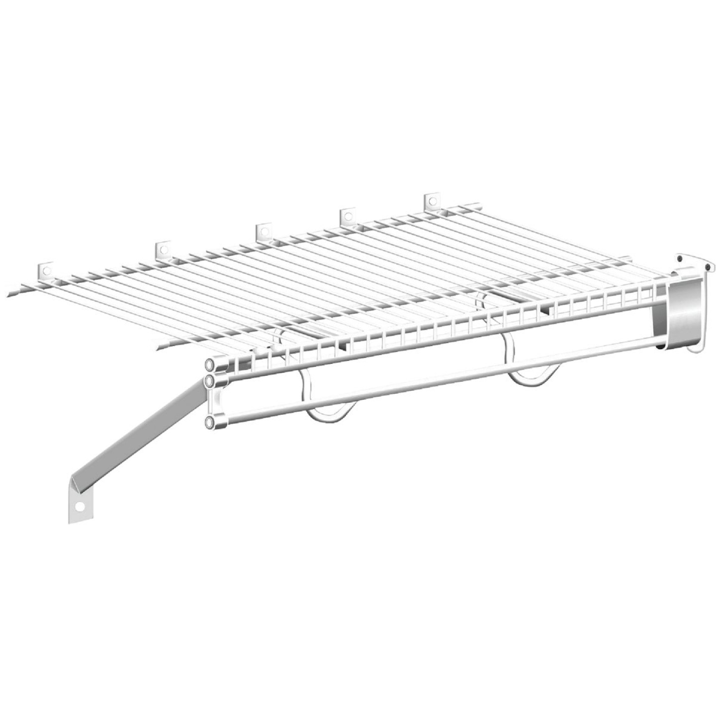 ClosetMaid TotalSlide 12 Ft. W. x 12 In. D. Contractor Pack Ventilated Wire Shelf & Rod, White (6-Pack) Image 3