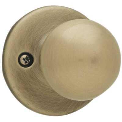 Kwikset Antique Brass Polo Dummy Door Knob