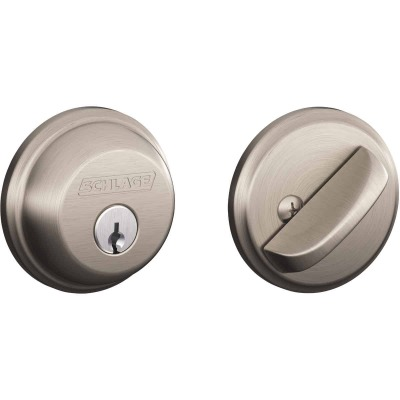 Schlage Satin Nickel Maximum Security Single Cylinder Deadbolt