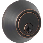 Steel Pro Oil Rubbed Bronze Single Cylinder Deadbolt Image 1