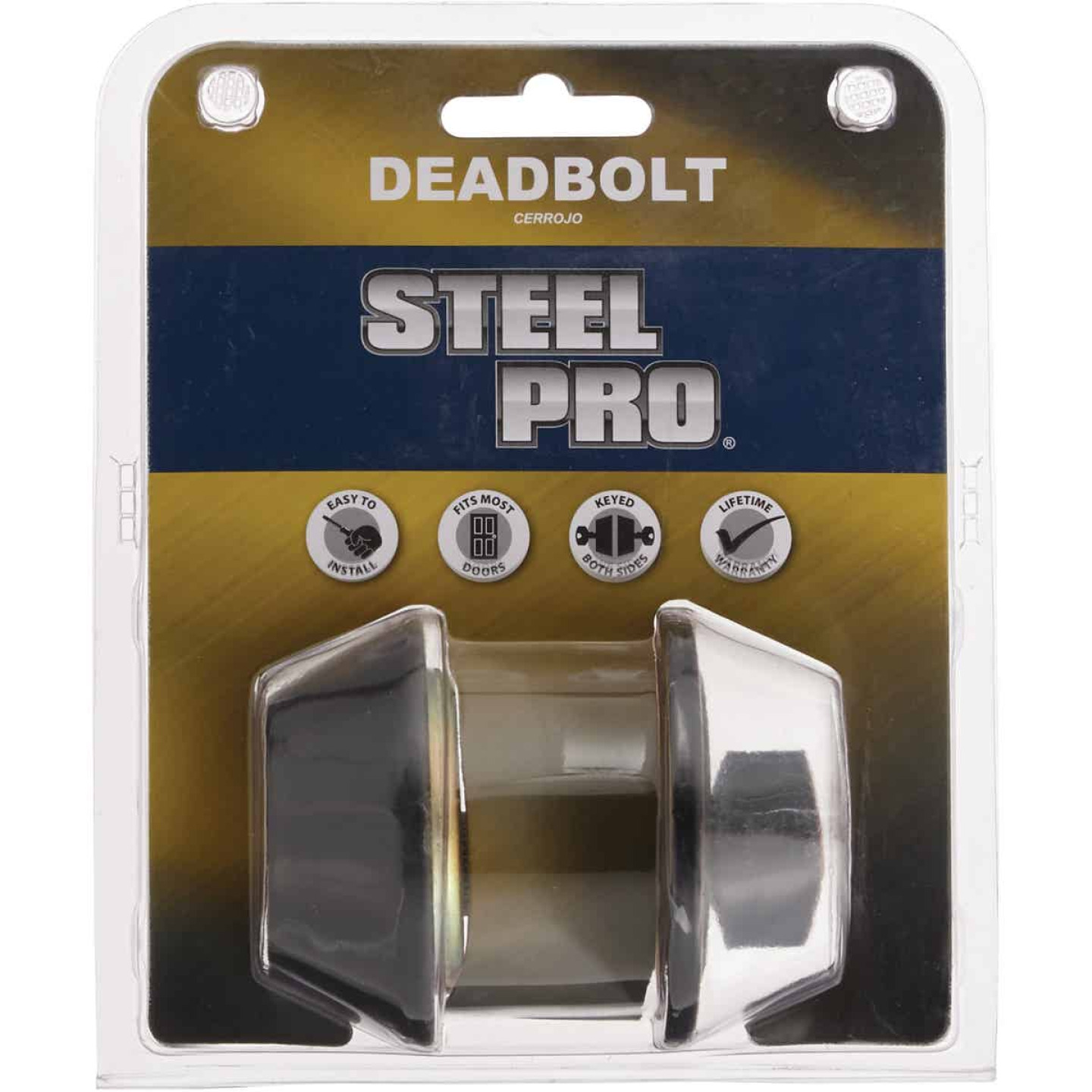 Steel Pro Oil Rubbed Bronze Single Cylinder Deadbolt Image 2