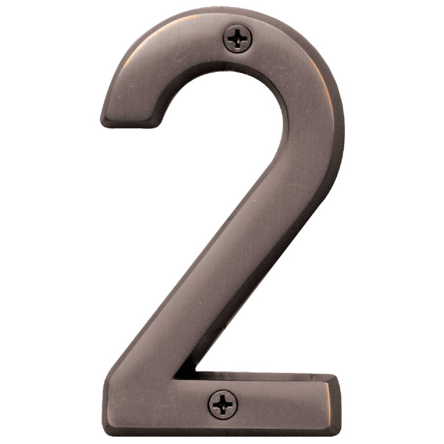 Hy-Ko Prestige Series 4 In. Oil Rubbed Bronze House Number Two Image 1