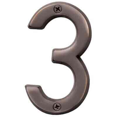 Hy-Ko Prestige Series 4 In. Oil Rubbed Bronze House Number Three