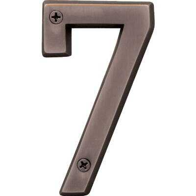 Hy-Ko Prestige Series 4 In. Oil Rubbed Bronze House Number Seven