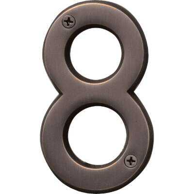 Hy-Ko Prestige Series 4 In. Oil Rubbed Bronze House Number Eight