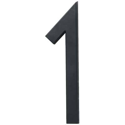 Hy-Ko Architectural Series 6 In. Satin Black House Number One