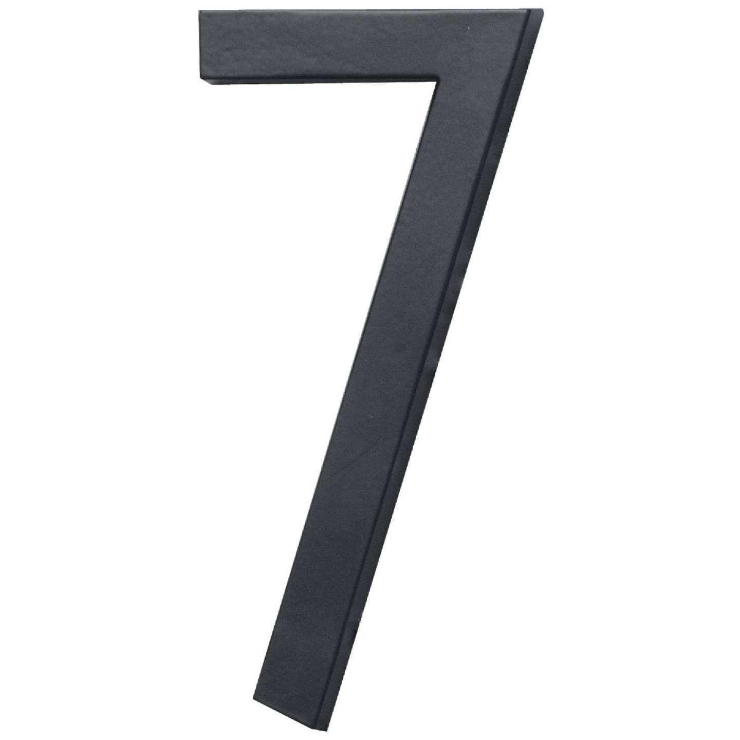 Hy-Ko Architectural Series 6 In. Satin Black House Number Seven Image 1
