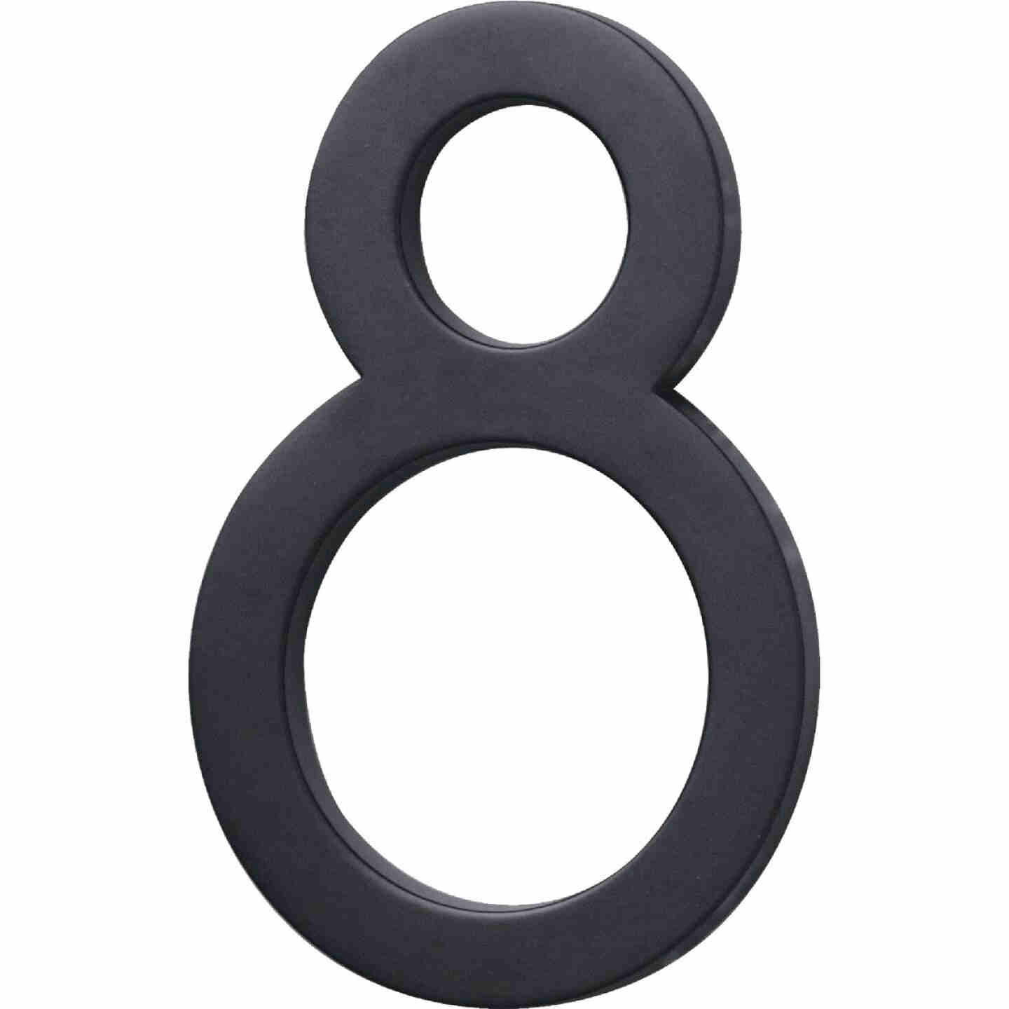 Hy-Ko Architectural Series 6 In. Satin Black House Number Eight Image 1