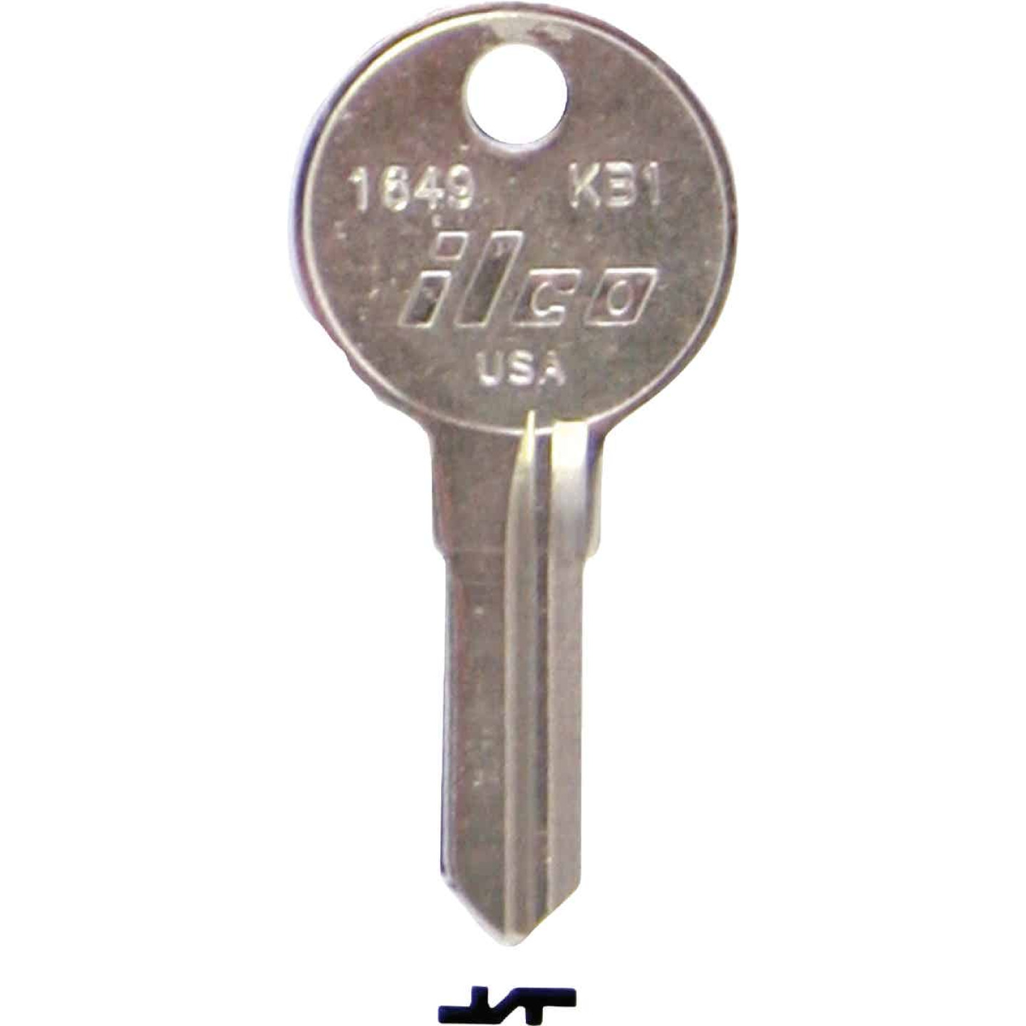 ILCO Kimball Nickel Plated File Cabinet Key, KB1 (10-Pack) Image 1
