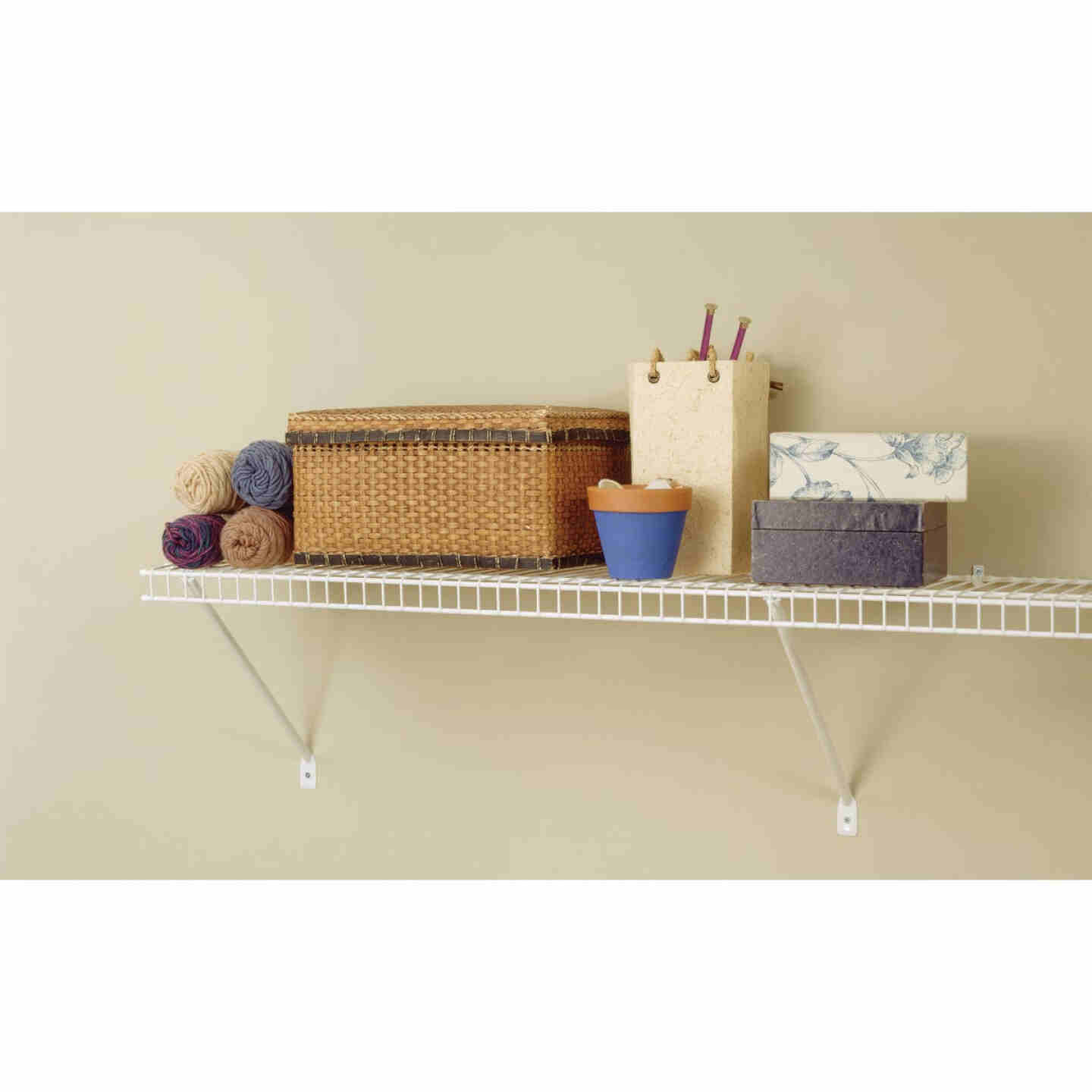 ClosetMaid 6 Ft. W. x 12 In. D Ventilated Shelf Kit, White Image 2