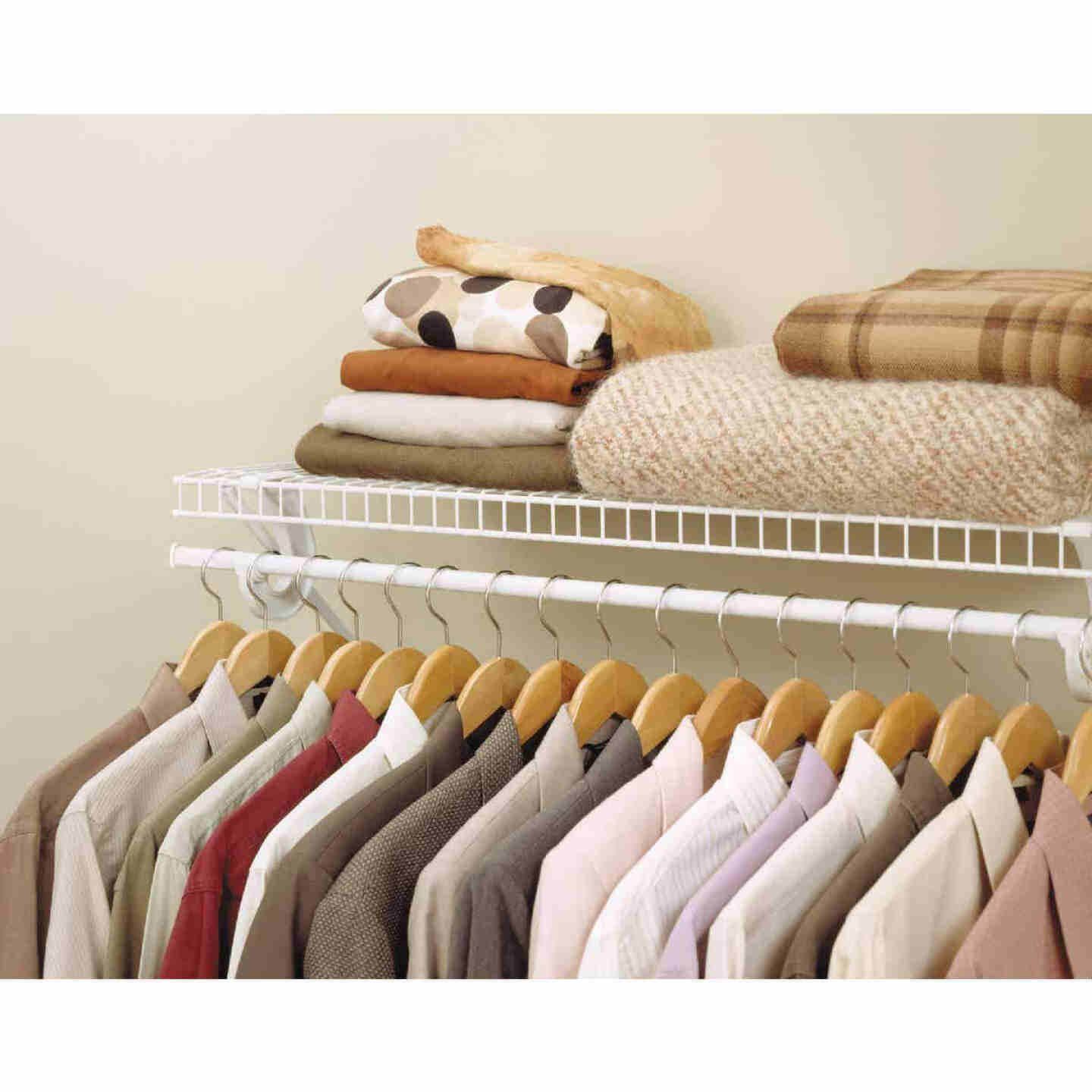ClosetMaid SuperSlide 6 Ft. W. x 12 In. D. Ventilated Shelf Kit with Bar Image 2