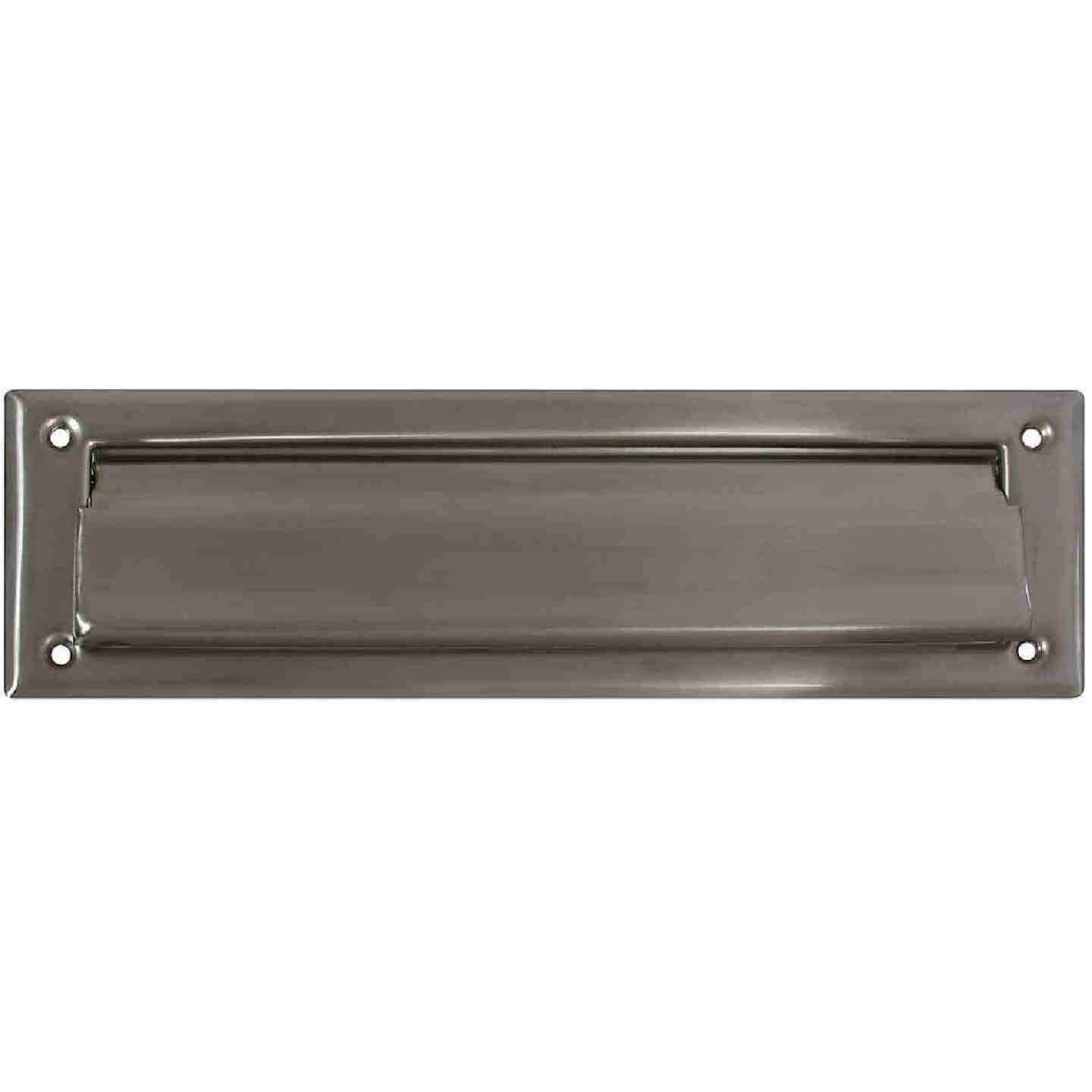 National 2 In. x 11 In. Satin Nickel Mail Slot Image 1