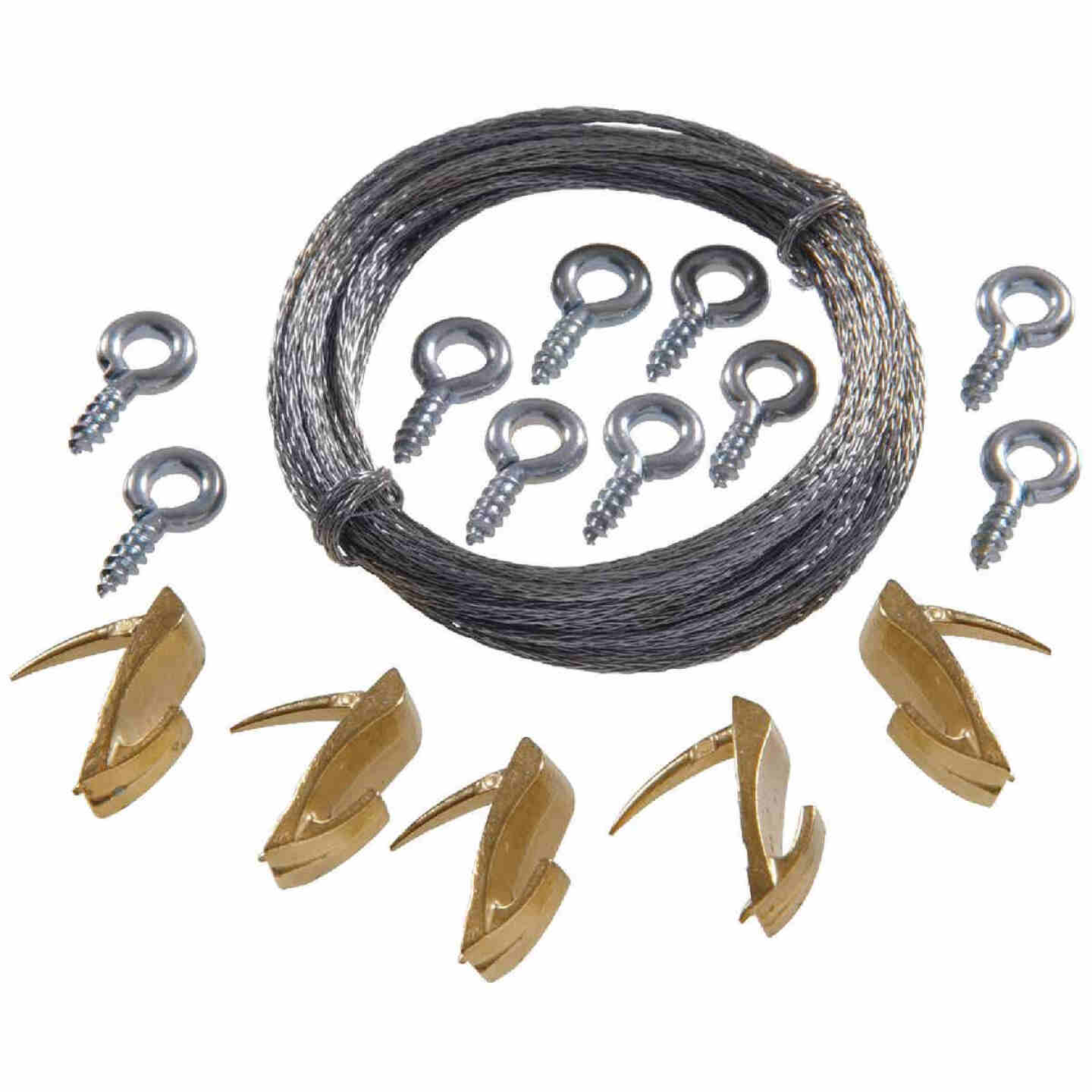 Hillman Anchor Wire 20 Lb. Capacity Wallbiter Picture Hanging Kit Image 1