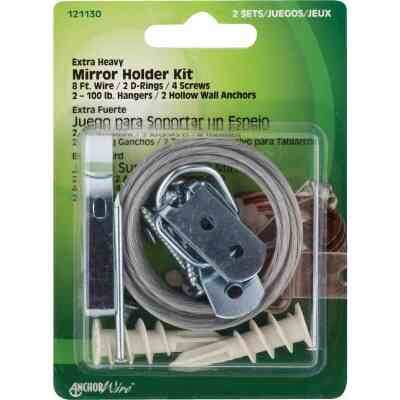 Hillman Anchor Wire Heavy-Duty Mirror And Picture Hanger Kit