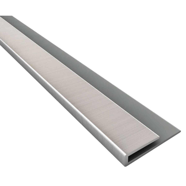 Fasade 18 In. Thermoplastic J-Edge Backsplash Trim, Brushed Nickel Image 1
