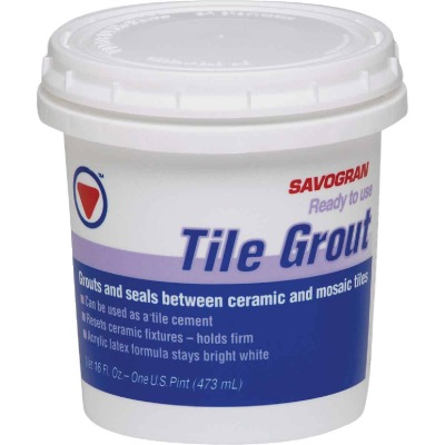 Savogran Pint Bright White Pre-Mixed Tile Grout