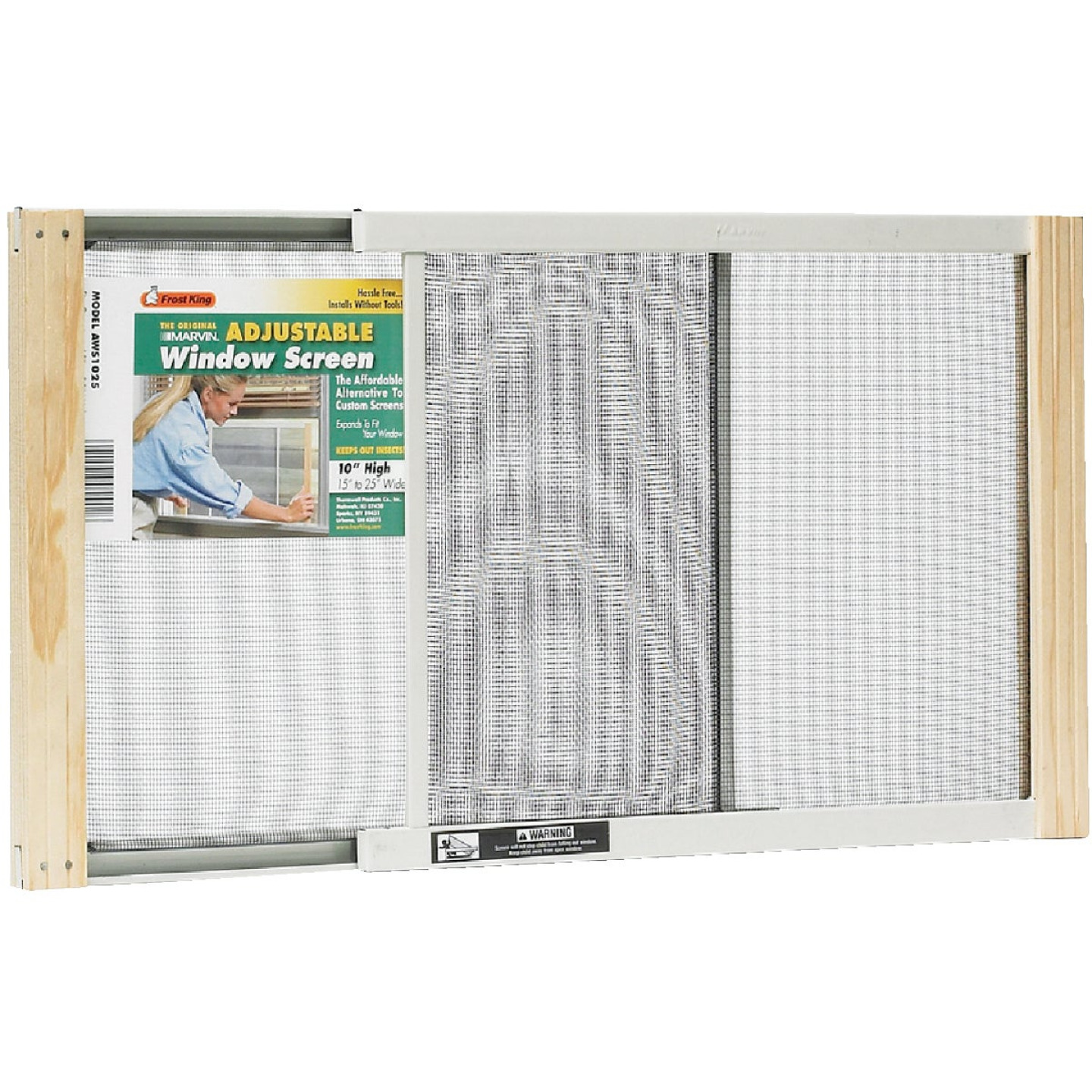 W.B. Marvin 10 In. x 15-25 In. Adjustable Window Screens by Frost King Image 1