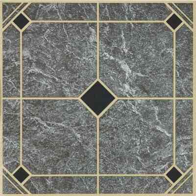 Home Impressions Blue and Gold 12 In. x 12 In. Vinyl Floor Tile (45 Sq. Ft./Box)