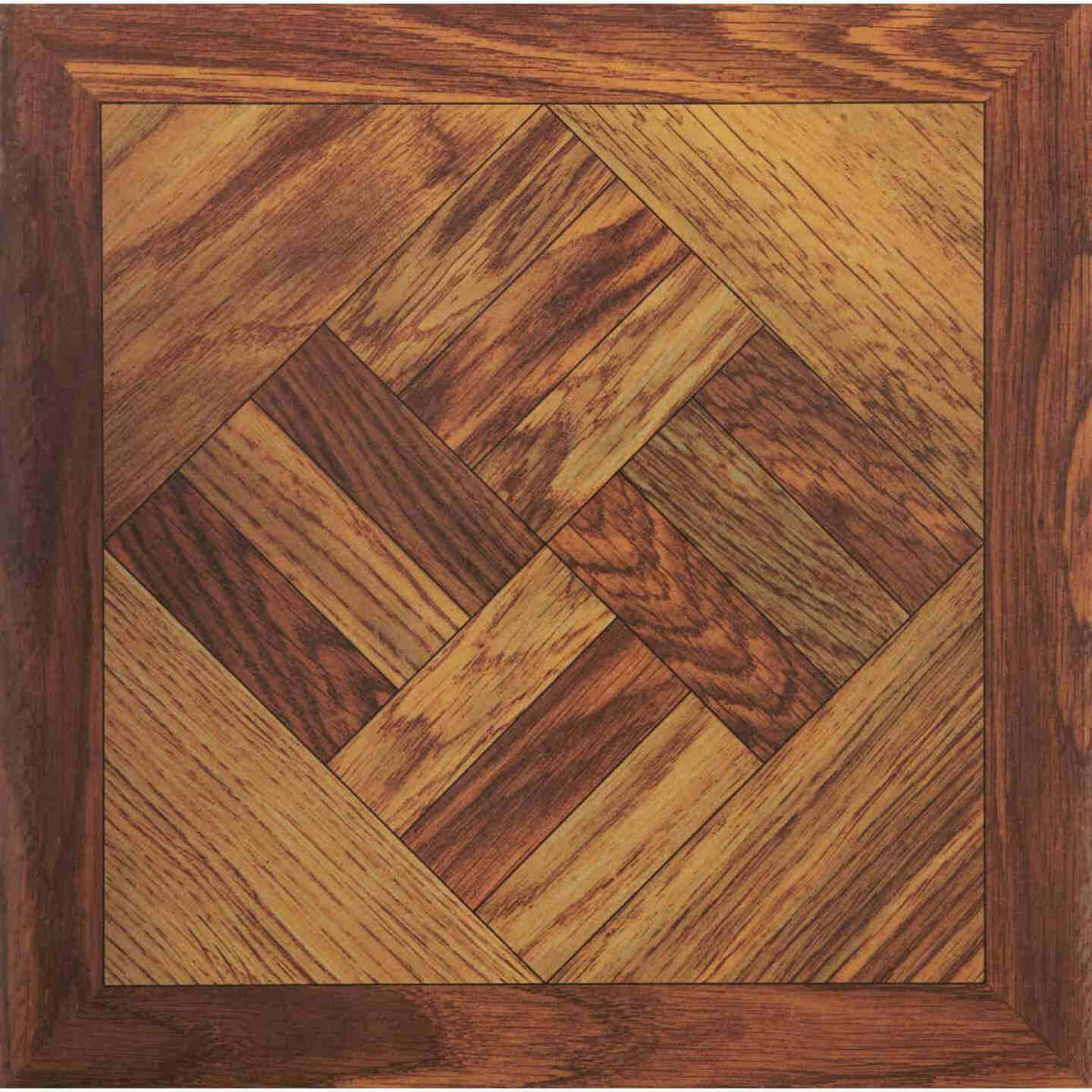 Home Impressions Wood Parquet 12 In. x 12 In. Vinyl Floor Tile (45 Sq. Ft./Box) Image 1