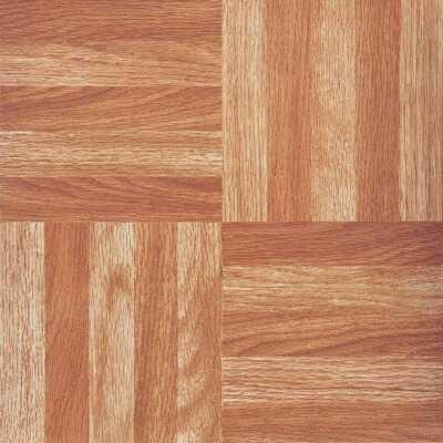 Home Impressions Wood Fingerblock 12 In. x 12 In. Vinyl Floor Tile (45 Sq. Ft./Box)