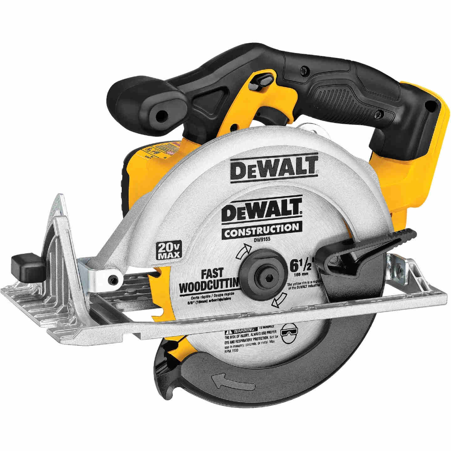 DeWalt 20 Volt MAX Lithium-Ion 6-1/2 In. Cordless Circular Saw (Bare Tool) Image 1