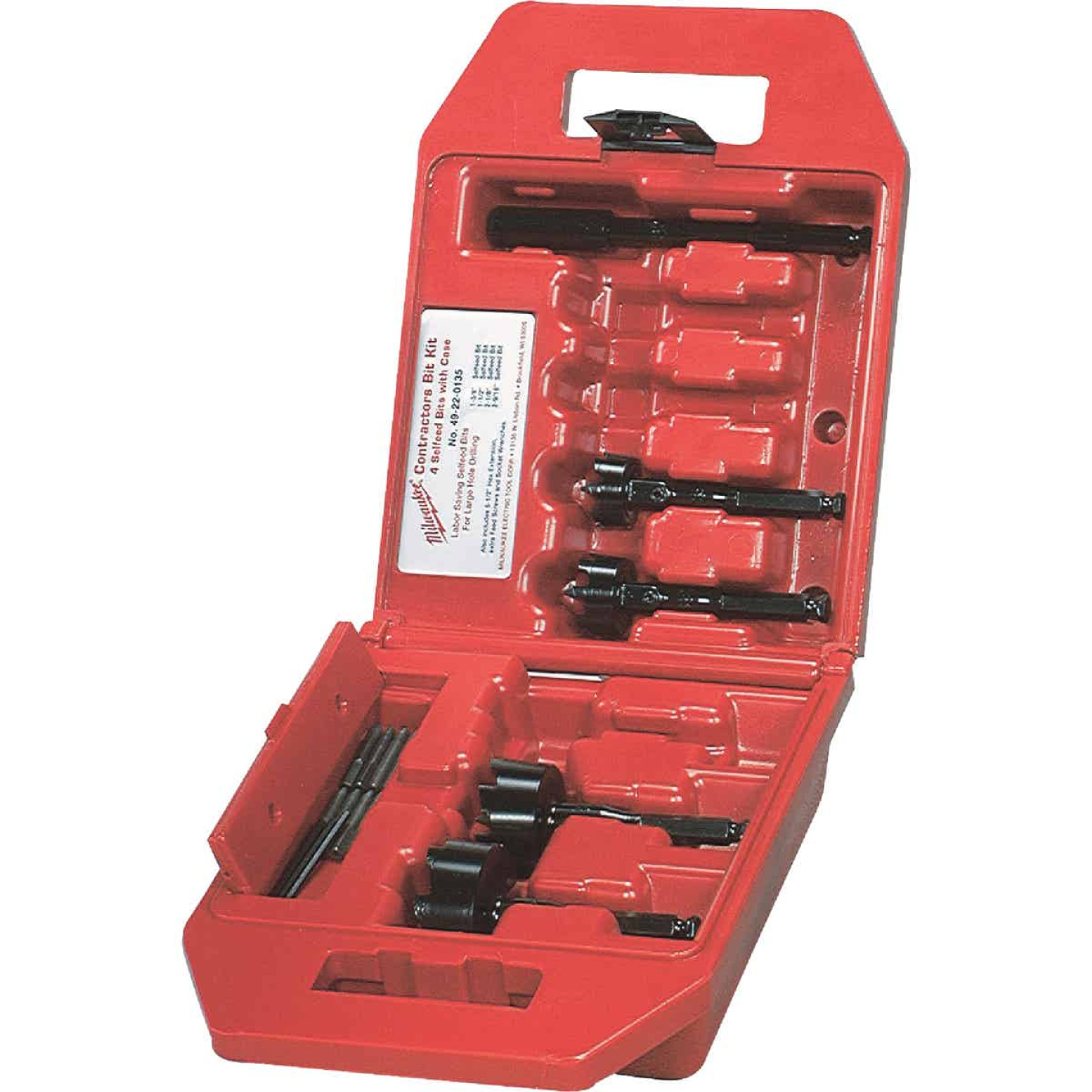 Milwaukee 4-Piece Contractor's Self-Feed Wood Bit Set Image 1