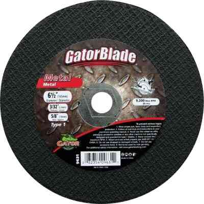Gator Blade Type 1 6-1/2 In. x 3/32 In. x 5/8 In. Metal Cut-Off Wheel