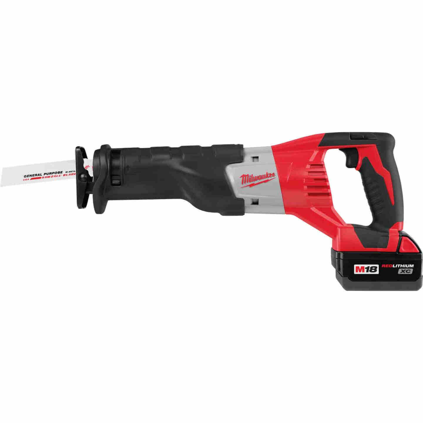 Milwaukee Sawzall M18 18 Volt Lithium-Ion Cordless Reciprocating Saw Kit Image 3