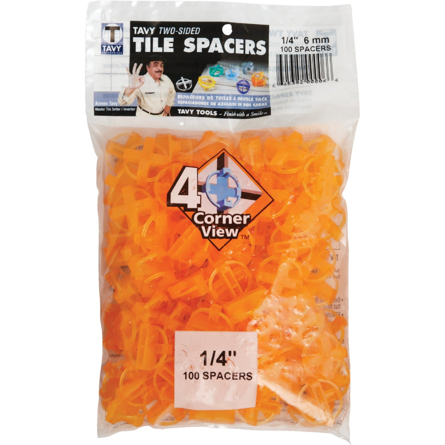 Marshalltown 1/4 In. Orange Tavy Tile Spacers (100-Pack) Image 2