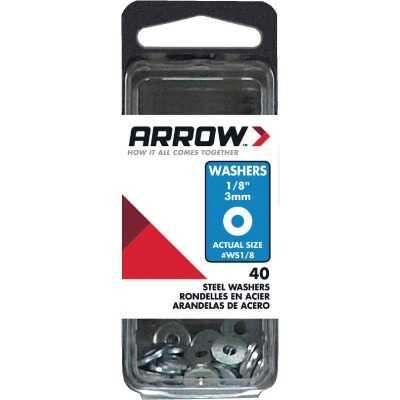 Arrow 1/8 In. Steel Rivet Washer (40-Pack)