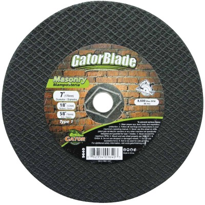 Gator Blade Type 1 7 In. x 1/8 In. x 5/8 In. Masonry Cut-Off Wheel