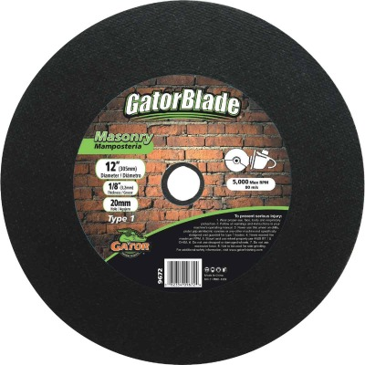 Gator Blade Type 1 12 In. x 1/8 In. x 20 mm Masonry Cut-Off Wheel